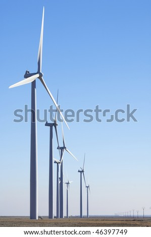 windfarm fied with clear sky