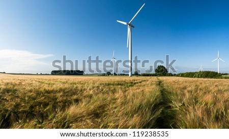 Windfarm in Germany - stock photo