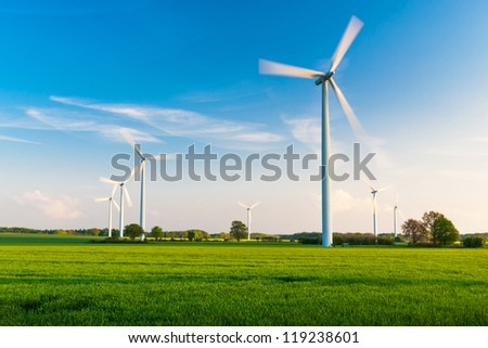 Windfarm in Germany - stock photo