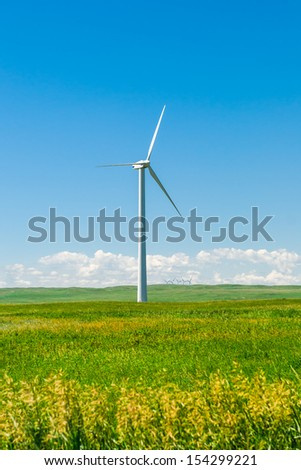 Windfarm in the scenic prairies, Alberta Canada