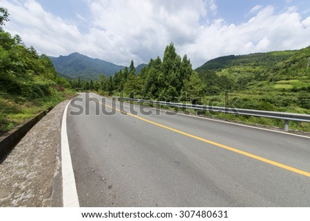 Winding road Background