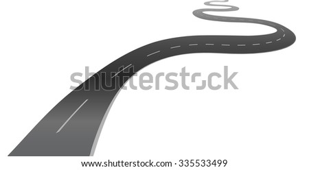winding road highway background  illustration jpeg version
