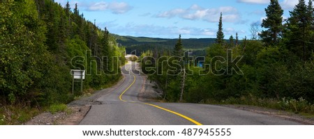 Winding road in central Newfoundland