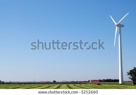 Windkraftanlage - stock photo