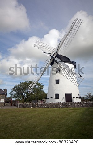 Windmill, Anglesey, Wales - stock photo