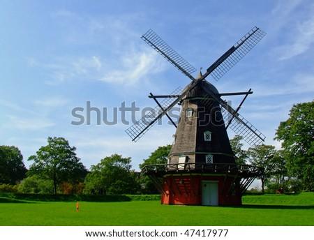 Windmill at Kastellet, Copenhagen, Denmark - stock photo