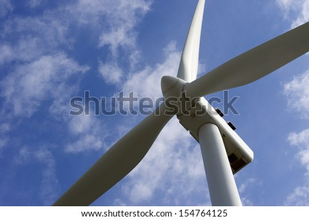 windmill close up for  electric power production - stock photo