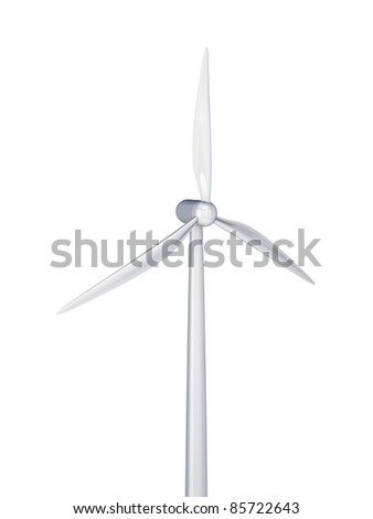 Windmill.3d rendered.Isolated on white background.