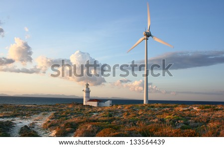 Windmill Farm - stock photo