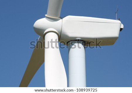 windmill for clean energy production renewable electric, Aras, Navarre, Spain