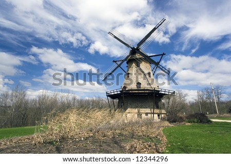 WIndmill in Geneva, west suburb of Chicago.