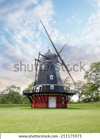 Windmill in Kastellet fortress, Copenhagen - stock photo