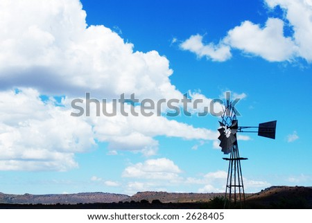 Windmill in the Karoo, South Africa.