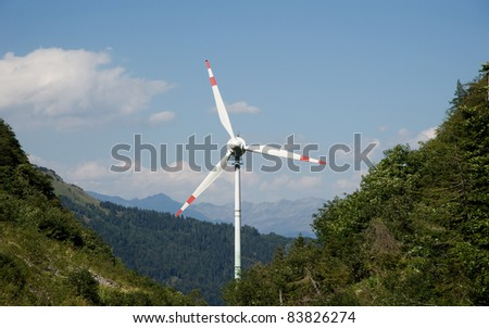 windmill in the mountains of Austria