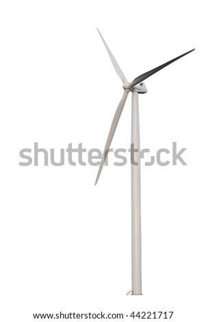 Windmill isolated on white background - stock photo