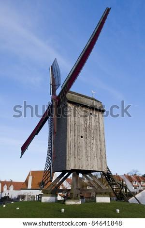 Windmill, Knokke, Belgium - stock photo
