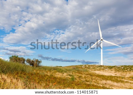 Windmill landscape - renewable energy source