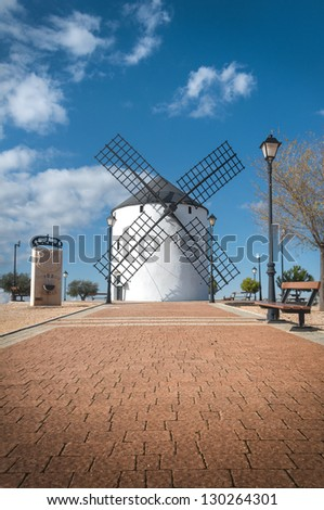 windmill located in the village of Barrax in the province of Albacete (Spain)
