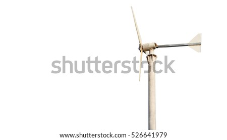 Windmill made energy for life. Isolated