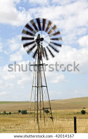 Windmill on a farm near Cape Town, Western Cape Province, South Africa