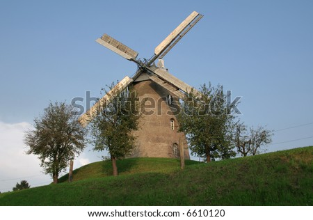 Windmill on a hill