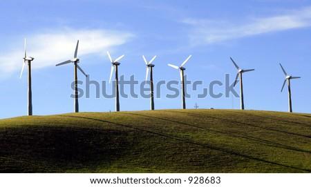 windmill renewable energy - stock photo