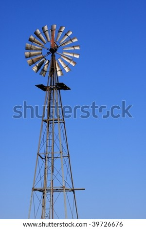 Windmill used for pumping water out of the ground #1
