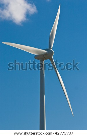 Windmill with bright blue sky (1)