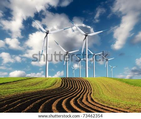 Windmills - stock photo