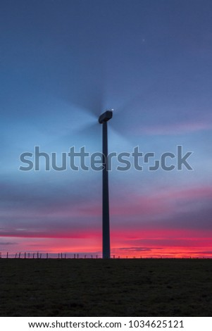 Windmills and landscape