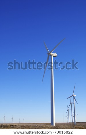 windmills group for electric power generation alternative