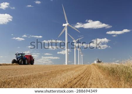 Windmills in Denmark  - stock photo