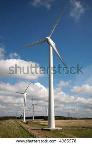windmills in the Dutch country