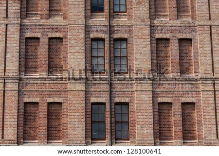 window and wall, background. - stock photo