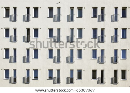 Window at a house site - stock photo