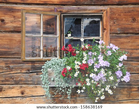 Window at an old farmhouse