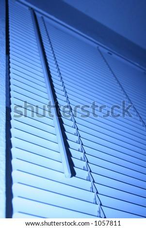window blind - stock photo