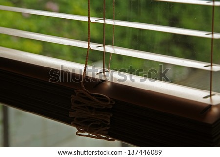 Window blind. Window shade. - stock photo