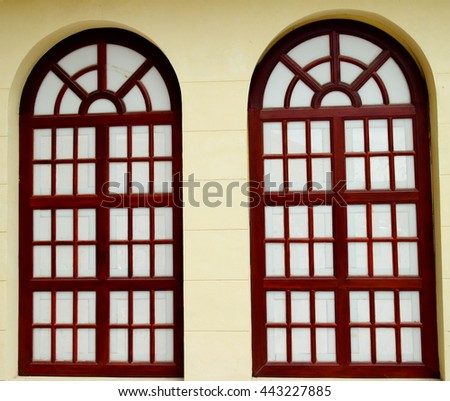 Window Brown  - stock photo
