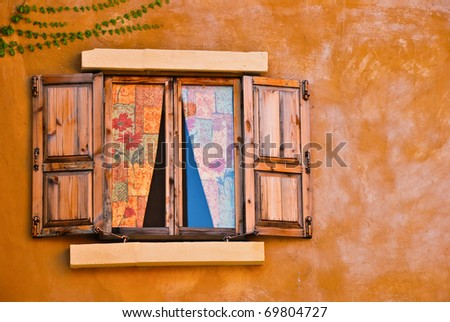 window color at thailand - stock photo