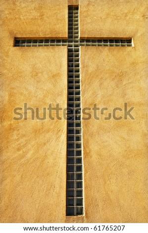 Window Cross - stock photo