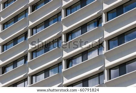 Window detail of modern building - stock photo