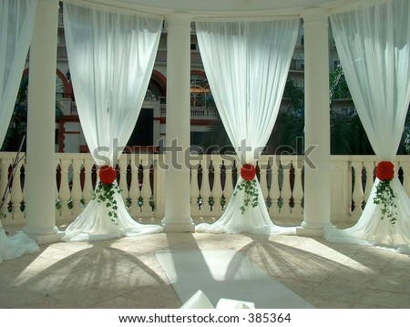 Window dressing in a gazebo