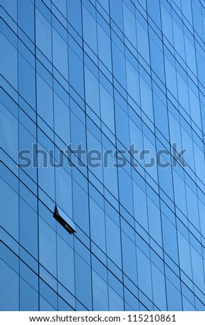Window facade on a skyscraper