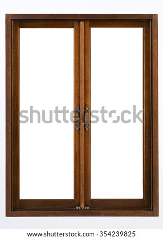 Window frame isolated on white background - stock photo