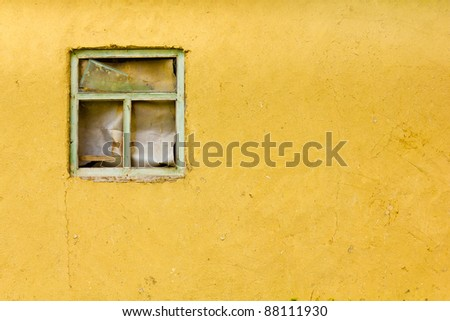window frame old wall street texture background - stock photo