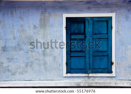 Window from a old house - stock photo