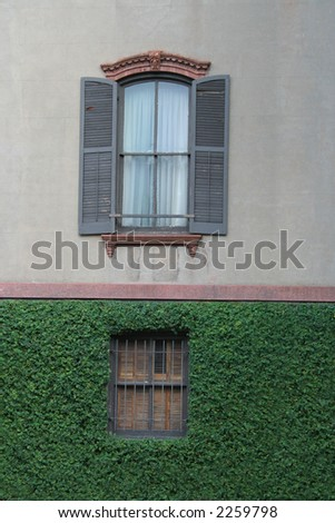 Window in a Wall - stock photo