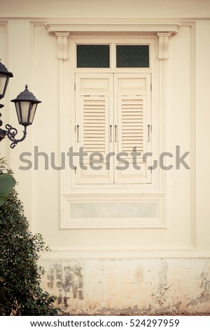 Window in ancient house,Thai style,wooden house,