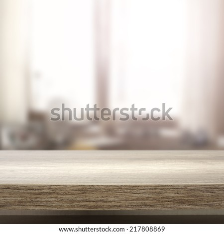 window in room and desk  - stock photo